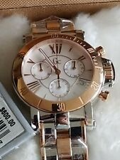 NWB GUESS COLLECTION GC WOMENS SPORT ROSE GOLD MOTHER OF PEARL WATCH MADE SWISS