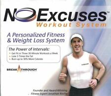 NO Excuses Workout System 6 Workouts on DVD Music CD Nutrition & Lifestyle Info
