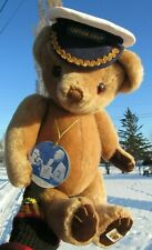 VINTAGE TEDDY BEAR 16'' MOHAIR CAPTAIN BULLY SAILOR ENGLAND TAG SIGN PETER BULL