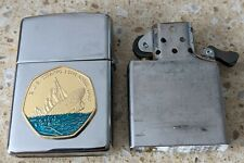 More details for original zippo chrome lighter -customised for the sinking of the titanic -used