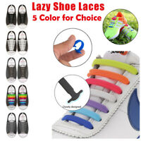 16pcs Lazy No Tie Shoelaces Elastic Silicone Running Sneakers Strings Shoe Laces