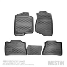 Black Profile Floor Liners Front, 2nd Row For Honda Element 03-11 w/o cooler)
