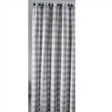 Wicklow Dove Gray White Check Shower Curtain Bathroom by Park Designs 72""