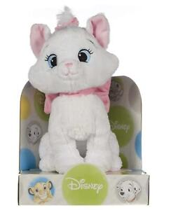 """NEW OFFICIAL DISNEY CLASSICS 10"""" MARIE SOFT PLUSH TOY ON DISPLAY PLINTH"""