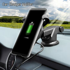 Qi inalámbrico coche rápido cargador Soporte para iPhone 8 X Samsung S8 S9