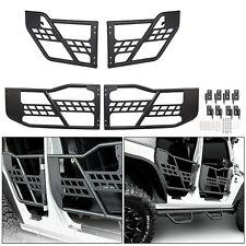 For 07-18 Wrangler JK 4 Door Unlimited Front & Rear Steel Tube Doors Textured