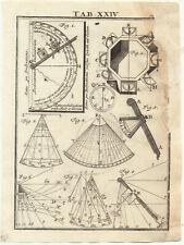 DECLINATORIUM Inclinatorium Orig. Kupferstich 1720 A. von Humboldt Meteorologie