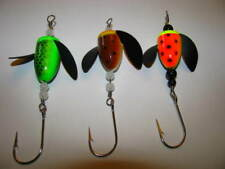 (3} Spin N Glo spinners (trolling or plunking) #2 bodies # 2/0 hook