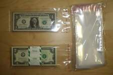 100 Self Adhesive & Resealable 3.5x7 Clear Poly BAGS for Currency Banknote Bills