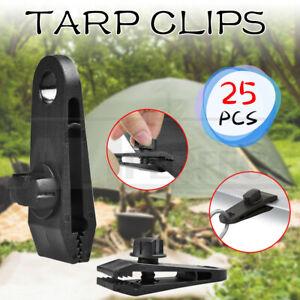 25PCS Tarp Clips Hangers Thumb Screw Camping Tent Clamps Lock Grip Heavy Duty AU