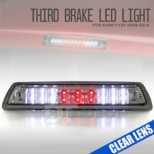 Clear Lens 2009-2014 Ford F150 LED Rear 3rd Third Brake Light Stop Cargo Lamp