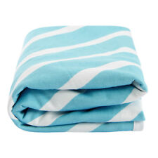 Lil Fraser Collection Billie Baby Wrap Turquoise and White Cotton Swaddle