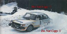 Per Eklund & Ragnar Spjuth Saab 99 Turbo Swedish Rally 1982 Photograph 1
