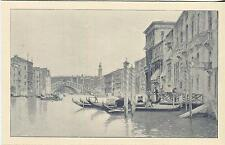 ANTIQUE VICTORIAN VENICE VENETIAL CANAL ITALY GONDOLA  BOATS SMALL ART OLD PRINT