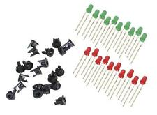 Peco PL-30 - 3mm LEDs 10 x Red + 10 x Green + 20 x Panel Clips - 1st Class Post