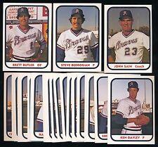 1981 TCMA Richmond Braves Team Set (25) -BRETT BUTLER STEVE BEDROSIAN, JOHN SAIN