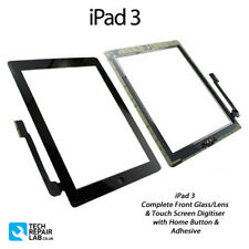 NEW iPad 3 Complete Front Glass/Digitiser Touch Screen Panel Assembly - BLACK
