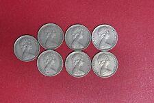 Lot of 7 Australia Australian  5 cents 1968 (MG91/C2)
