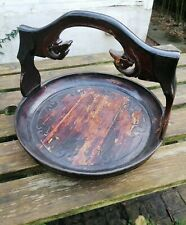 Asian antique Lacquered Wood tea service tray