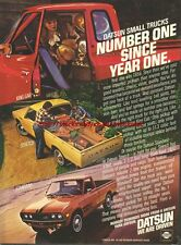 "Datsun ""We Are Driven"" Trucks 1978 Magazine Advert #1055"