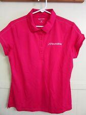 """Hot Pink """"Manitou"""" Wicking Golf/Tennis Sport Short Sleeve Shirt Medium 40"""" Bust"""