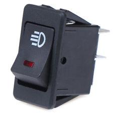 12V 35A Universal Car Red LED Fog Light Rocker Switch Dash Dashboard 4Pin 2Y