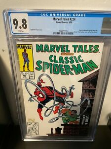 Marvel Tales #224 CGC 9.8 White Pages Todd McFarlane Cover Doc Octopus