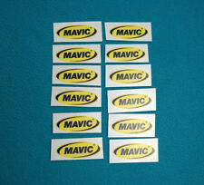 MAVIC OVAL LOGO 12pcs RIM DECALS 49 X 18 mm