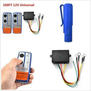 100ft 12V Wireless Winch Remote Control w/ Two Switch Handset for Car Truck ATV