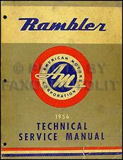 1956 Rambler Originale Manuale di Negozio 56 Nash Hudson Servizio Riparazione