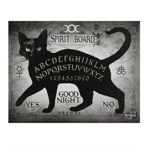 THE SPIRIT BOARD ALCHEMY GOTHIC SMALL CANVAS PICTURE ART PRINT BLACK CAT OUIJA