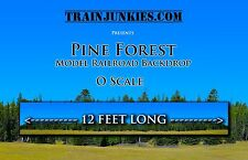 "TrainJunkies O Scale ""Pine Forest""  24x144"" Model Railroad Backdrop"