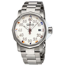 Corum Admiral's Cup White Dial Stainless Steel Automatic Mens Watch