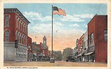 E34/ Orrville Ohio Postcard 1922 N Main Street Stores Automobiles