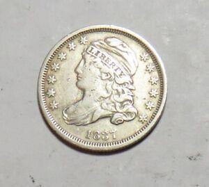 1837 CAP BUST DIME CLEAN