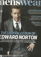 Menswear magazine Edward Norton Carven fashion Biker chic London style