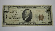 $10 1929 Lavonia Georgia GA National Currency Bank Note Bill Ch. #8470 VF!