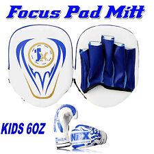 Kids Focus Pad Hook and Jab Mitt 6oz Kick Boxing MMA Punch Training Gloves
