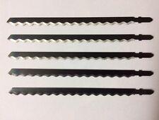 5 Stichsägeblätter 180 mm Wellenschliff  Leder Gummi Styropor Teppich Papier