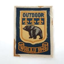 "Who.A.U. 1849 Outdoor Black Bear Patch Distressed Embroidery 3 1/4"" x 2 1/2"""
