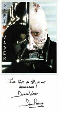 Dave Prowse Signed Darth Vada Quote