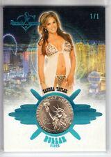 2020 Benchwarmer Vegas Baby SANDRA TAYLOR 1/1 Ice Blue DOLLAR SLOTS Coin Card