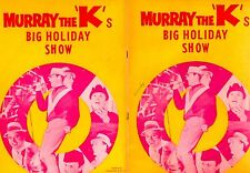 FOUR TOPS / MARVIN GAYE / MURRAY THE K'S 1965 BIG HOLIDAY SHOW CONCERT PROGRAM