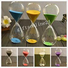 Colored Sand Glass Clock Hourglass Timer Watch 60min Decor Birthday Xmas Gift