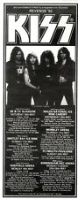 22/2/92Pgn44 Advert: See Kiss Live In Concert On The revenge 92 Tour 8x3""