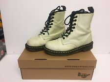 Dr Martens Pascal Glitter Womens 8-Eyelet Boots White Purple Size 4/37 Boxed