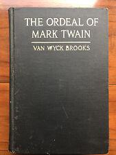 The Ordeal Of Mark Twain, by Van Wyck Brooks -1920-Scarce 1st Ed, Antq. H/C Book