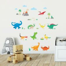 Decowall DS-8032  Colourful Dinosaur Nursery Kids Removable Wall Stickers Decals