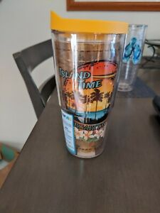 Tervis Tumbler Margaritaville 24Oz yellow Lid NEW Tropical Vacation
