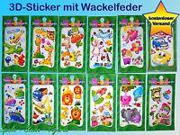 Wackelsticker, Sticker mit Sprungfeder, Kreativ Bastel Set f zB Geburtstagkarte